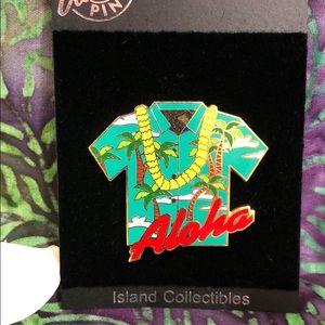🏆ISLAND COLLECTIBLES Aloha Shirt Pin Hat, Lapel